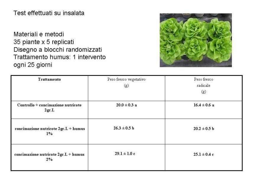 Humus di lombrico solido e liquido per la coltivazione dellepiante