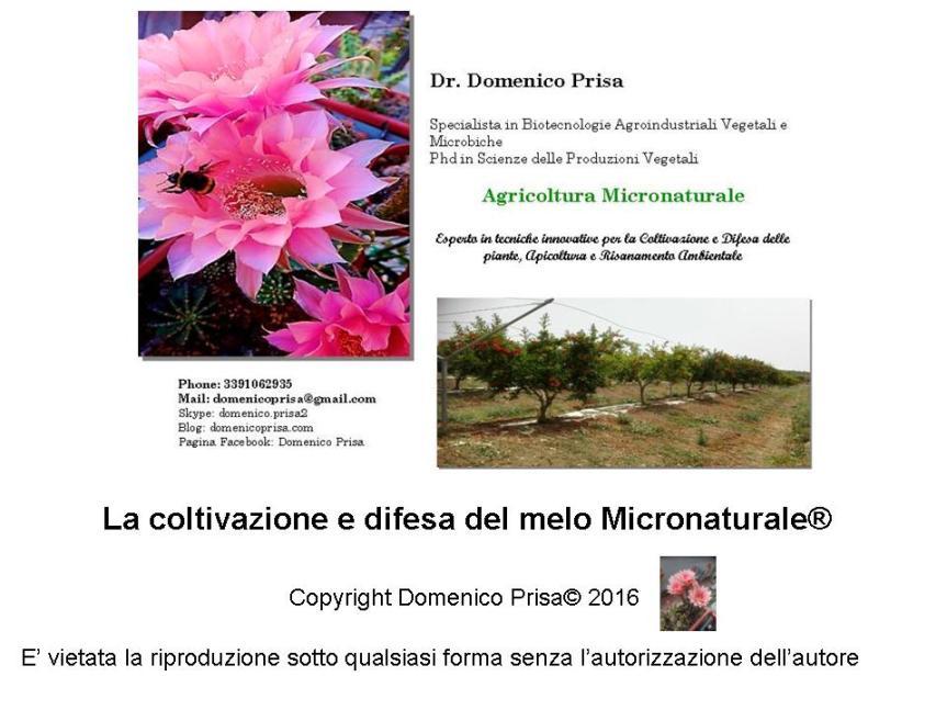 AGRICOLTURA MICRONATURALE. COLTIVAZIONE E DIFESA DELMELO