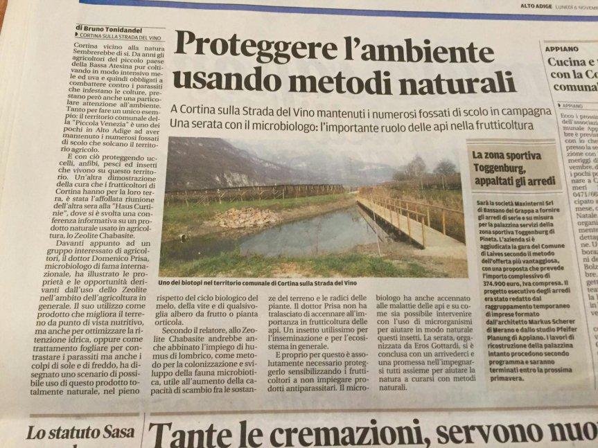 Convegno Cortina sulla strada del vino: Micronaturale, tecniche innovative per la salvaguardia dell'ambiente