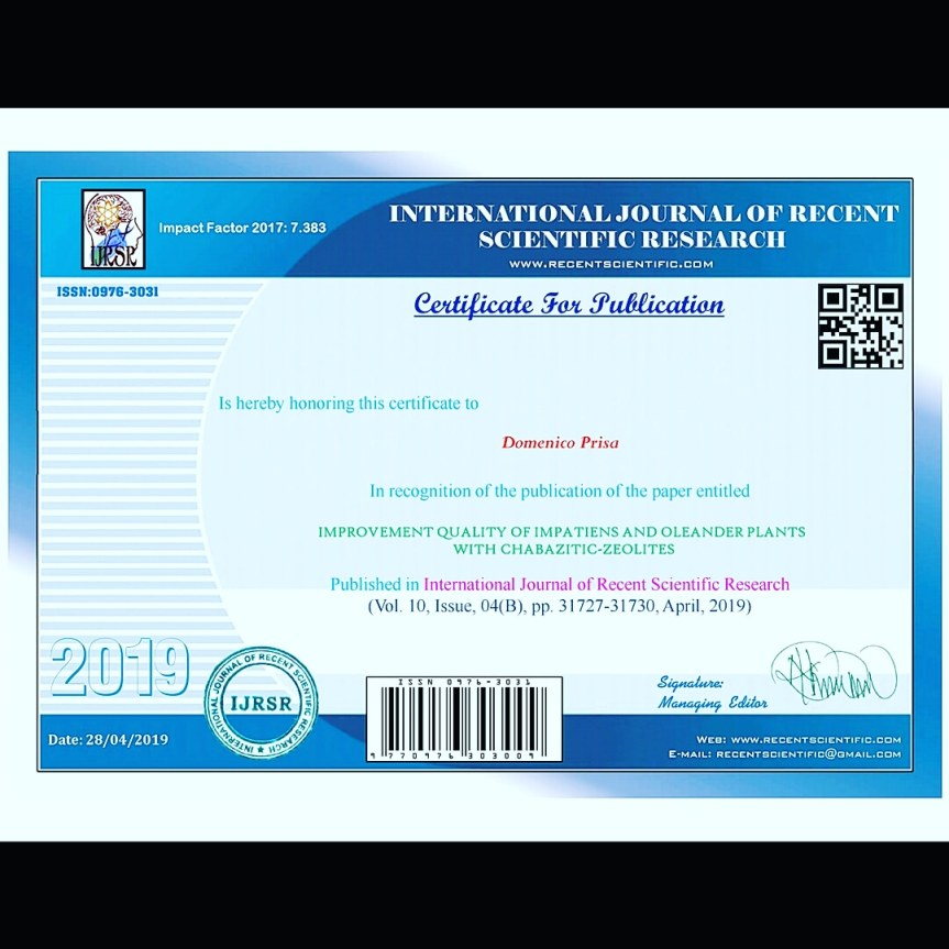 Certificate for publication