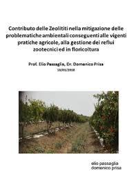 Contributo delle Zeolititi nella mitigazione delle problematiche ambientali conseguenti alle vigenti pratiche agricole, alla gestione dei reflui zootecnici ed infloricoltura