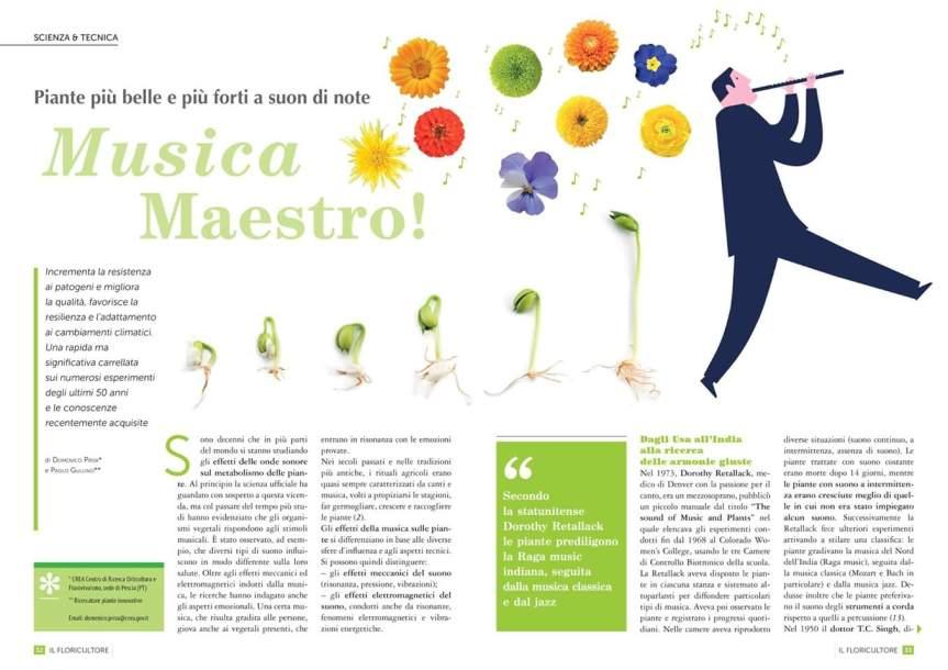 Piante più belle e più forti a suon di note: Musicamaestro!